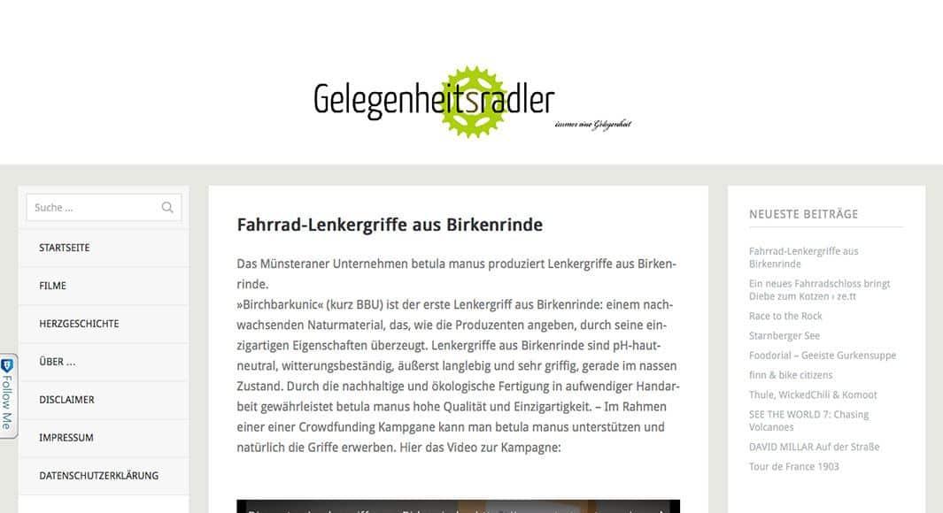 http://gelegenheitsradler.de/